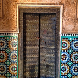 Door and mosaic